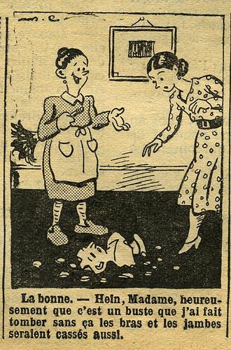 Fillette 1933 - n°1303 - page 6 - Dessin sans titre - 12 mars 1933