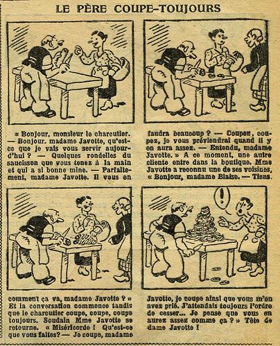 Fillette 1933 - n°1296 - page 7 - Le père coupe-toujours - 22 janvier 1933
