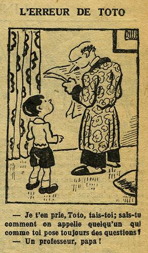 Fillette 1933 - n°1293 - page 11 - L'erreur de TOTO - 1er janvier 1933