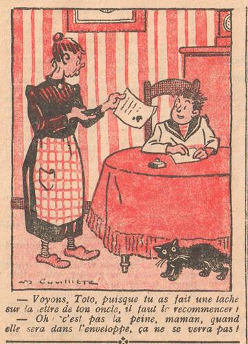 Le Pêle-Mêle 1926 - n°105 - page 10 - Voyons Toto puisque tu as fait une tache - 21 février 1926