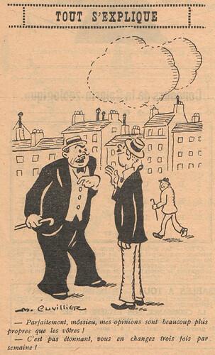 Le Pêle-Mêle 1928 - n°240 - page 7 - Tout s'explique - 23 septembre 1928