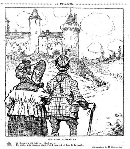 Le Pêle-Mêle 1919 - n°26 - Nos bons touristes - 26 juin 1919 - page 6