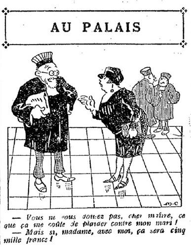 Le Pêle-Mêle 1927 - n°152 - page 11 - Au palais (G) - 16 janvier 1927