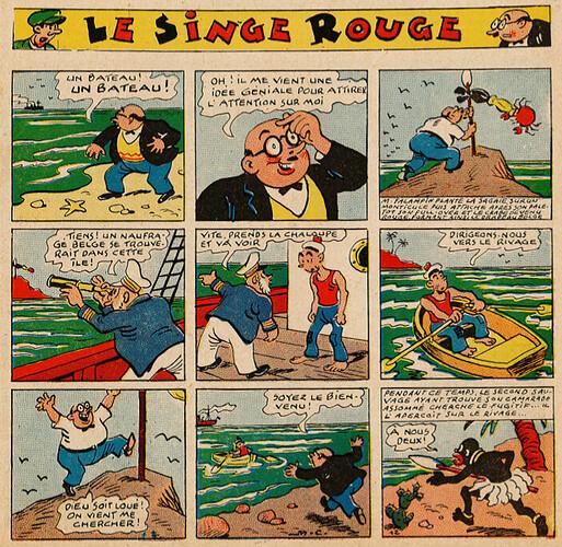 Pat épate 1949 - n°25 - Le Singe Rouge - 19 juin 1949 - page 1