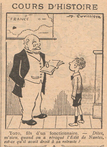 Le Pêle-Mêle 1928 - n°224 - page 11 - Cours d'histoire - 3 juin 1928