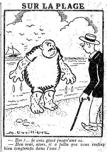 Le Pêle-Mêle 1927 - n°178 - page 11 - Sur la plage (G) - 17 juillet 1927