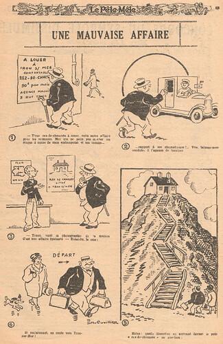 Le Pêle-Mêle 1928 - n°229 - page 15 - Une mauvaise affaire - 8 juillet 1928