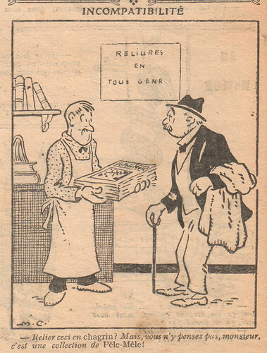 Le Pêle-Mêle 1927 - n°155 - page 8 - Incompatibilité - 6 février 1927