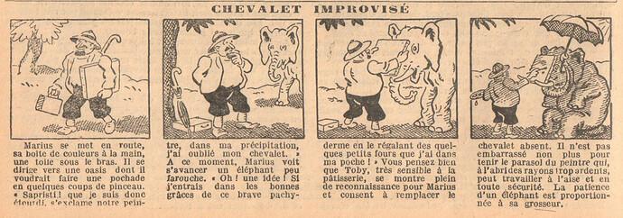 Le Petit Illustré 1929 - n°1280 - page 4 - Chevalet improvisé - 21 avril 1929