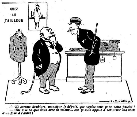 Le Pêle-Mêle 1926 - n°110 - page 16 - Chez le tailleur (G) - 28 mars 1926