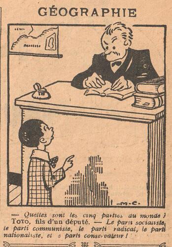 Le Pêle-Mêle 1926 - n°143 - page 11 - Géographie - 14 novembre 1926