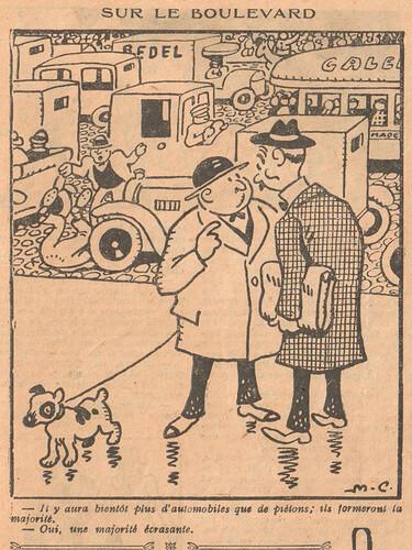 Le Pêle-Mêle 1926 - n°149 - page 9 - Sur le boulevard - 26 décembre 1926