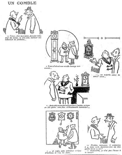 Le Pêle-Mêle 1927 - n°152 - page 18 - Un comble (G) - 16 janvier 1927