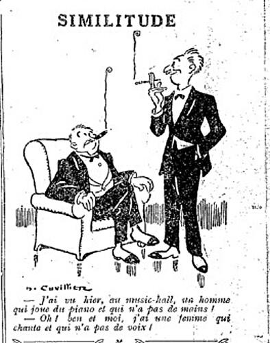 Le Pêle-Mêle 1927 - n°183 - page 11 - Similitude (G) - 21 août 1927