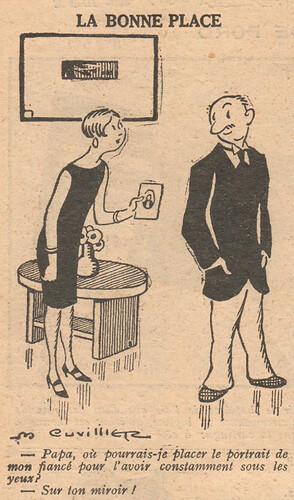Le Pêle-Mêle 1927 - n°194 - page 10 - La bonne place - 6 novembre 1927