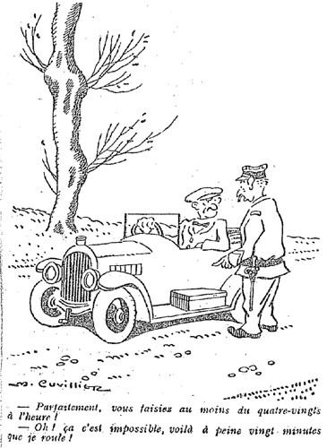 Le Pêle-Mêle 1927 - n°187 - page 3 - Parfaitement vous faisiez au moins du quatre-vingts à l'heure (G) - 18 septembre 1927