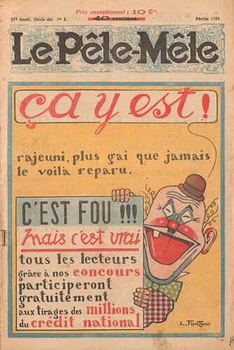 Le Pêle-Mêle 1924 - n°1 - page 1 - ça y est - février 1924