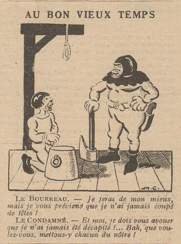 Le Pêle-Mêle 1929 - n°264 - Au bon vieux temps - 10 mars 1929 - page 7