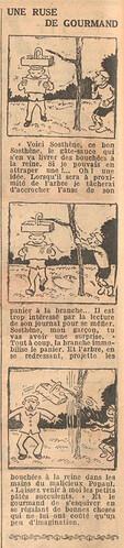 Le Petit Illustré 1929 - n°1268 - page 2 - Une ruse de gourmand - 27 janvier 1929