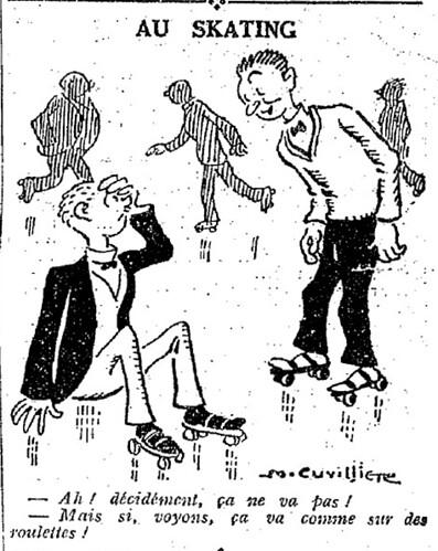 Le Pêle-Mêle 1927 - n°186 - page 11 - Au skating (G) - 11 septembre 1927