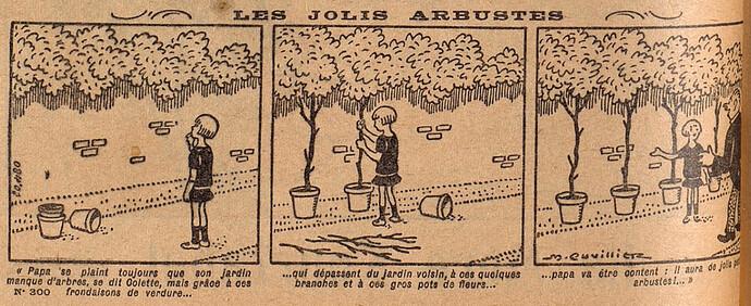 Lisette 1927 - n°300 - page 2 - Les jolis arbustes - 10 avril 1927