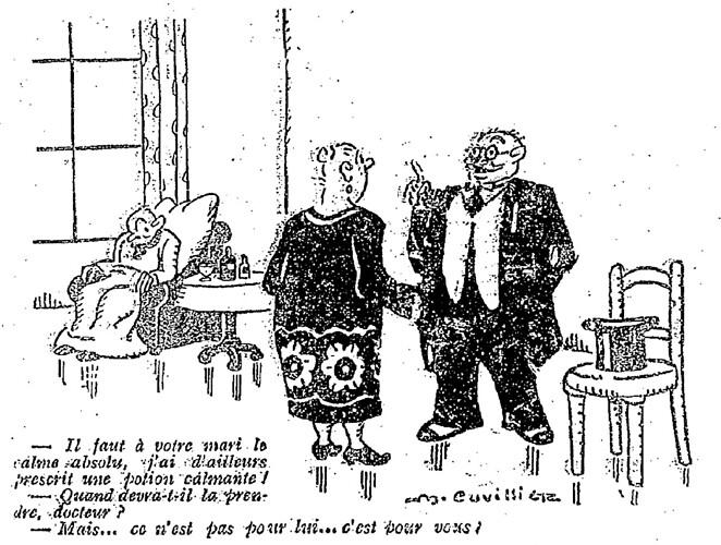 Le Pêle-Mêle 1927 - n°176 - page 16 - Il faut à votre mari le calme absolu (G) - 3 juillet 1927