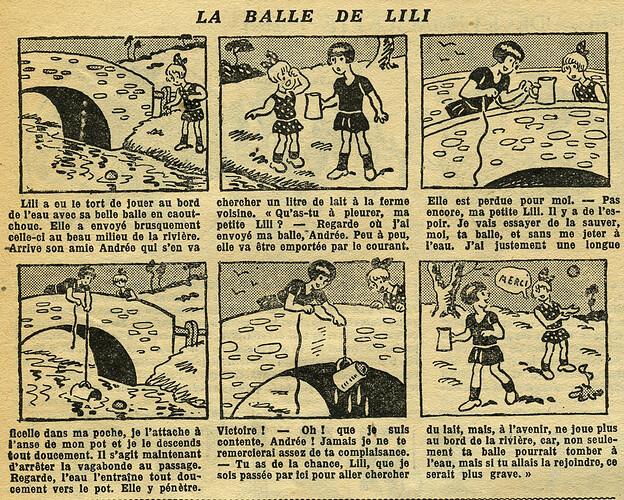 Fillette 1933 - n°1295 - page 4 - La balle de LILI - 15 janvier 1933