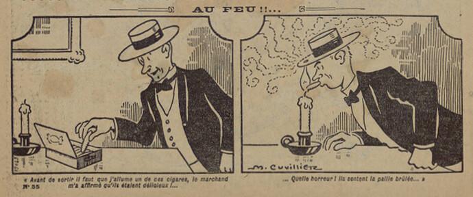 Pierrot 1927 - n°55 - page 2 - Au feu - 9 janvier 1927