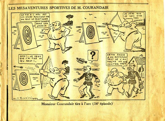 Les mésaventures sportives de M. COURANDAIR (16e épisode)