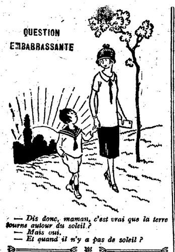 Le Pêle-Mêle 1926 - n°122 - page 10 - Question embarrassante (G) - 20 juin 1926