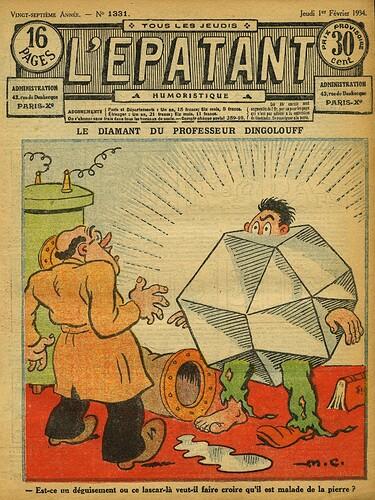 L'Epatant 1934 - n°1331 - page 1 - Le diamant du professeur DINGOLOUFF - 1er février 1934