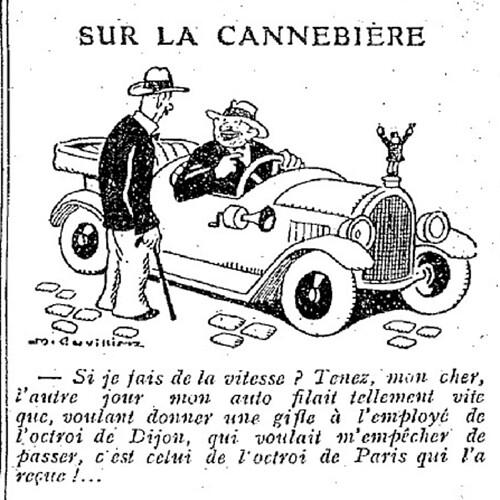 Le Pêle-Mêle 1927 - n°177 - page 11 - Sur la Cannebière (G) - 10 juillet 1927