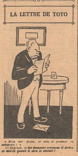 Le Pêle-Mêle 1927 - n°155 - page 10 - La lettre de Toto - 6 février 1927
