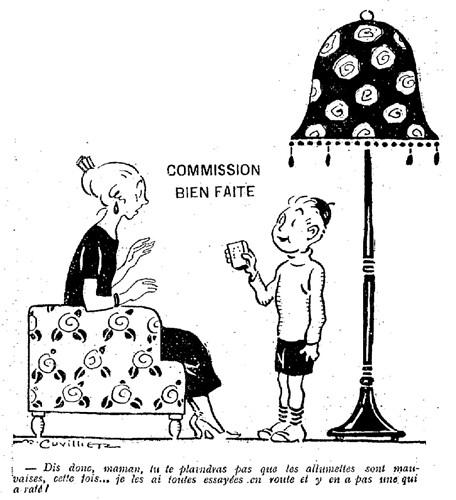 Le Pêle-Mêle 1925 - n°61 - page 3 - Commission bien faite (G) - 19 avril 1925