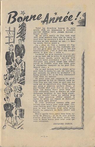 Almanach 1947 - Au rythme des saisons et des joies - page 1 - jacques Coeur