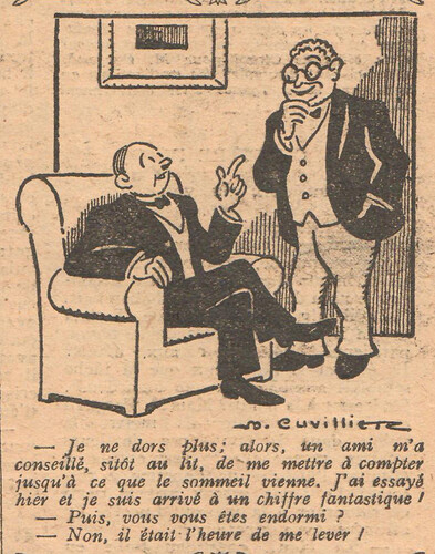 Le Pêle-Mêle 1927 - n°189 - page 11 - Je ne dors plus - 2 octobre 1927