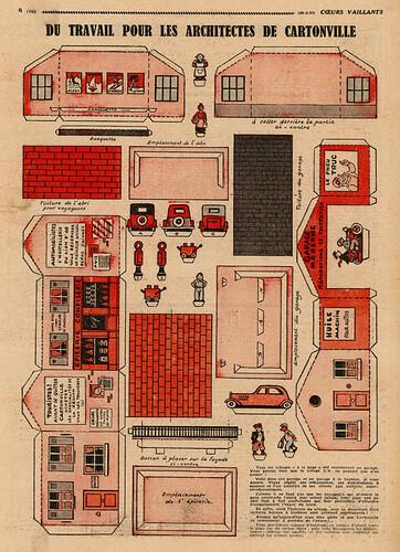 Coeurs Vaillants 1937 - n°13 - page 8 - Du travail pour les architectes de cartonville - 28 mars 1937