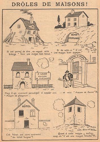 Le Pêle-Mêle 1927 - n°194 - page 15 - Drôles de maisons - 6 novembre 1927