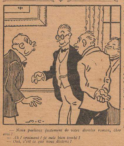 Le Pêle-Mêle 1927 - n°165 - page 7 - Nous parlions justement de votre dernier roman - 17 avril 1927