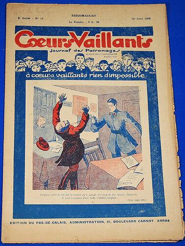 Coeurs Vaillants - Journal des Patronages 1929 - n°16 - 20 avril 1929 - édition du Pas-de-Calais