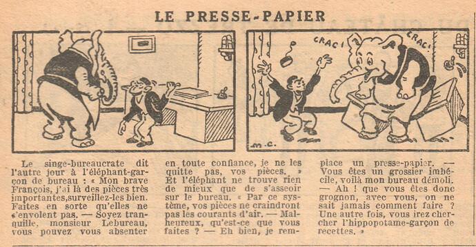 Le Petit Illustré 1929 - n°1265 - page 14 - Le presse-papier - 6 janvier 1929