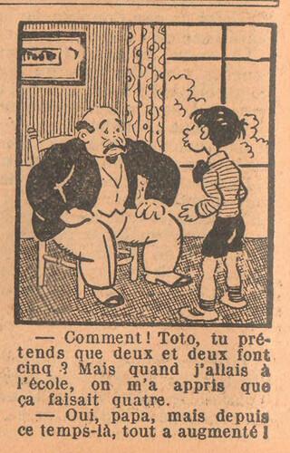 Le Petit Illustré 1929 - n°1283 - page 12 - Comment Toto - 12 mai 1929