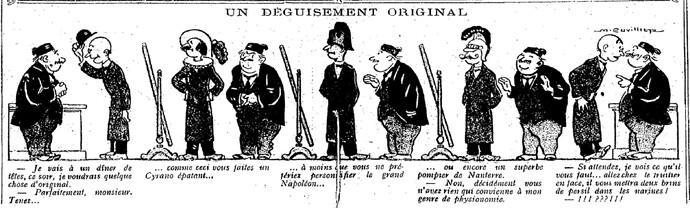 Le Pêle-Mêle 1925 - n°61 - pages 10 et 11 - Un déguisement original (G) - 19 avril 1925