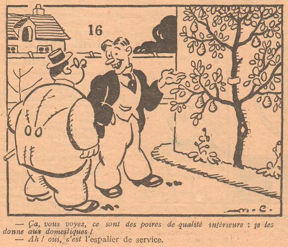 Le Pêle-Mêle 1929 - n°295 - ça vous voyez ce sont des poires de qualité inférieure - 13 octobre 1929 - page 12