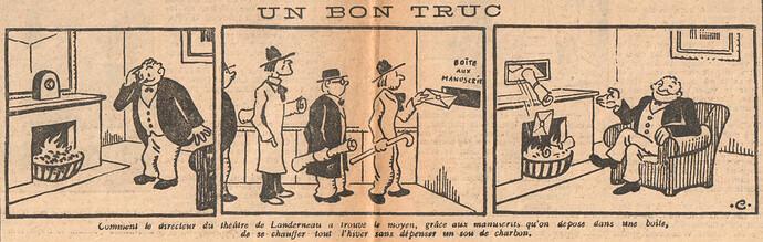 Le Pêle-Mêle 1927 - n°191 - pages 10 et 11 - Un bon truc - 16 octobre 1927