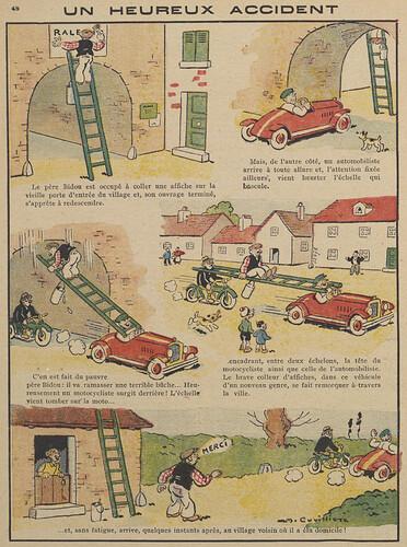 Guignol 1930 - n°145 - Un heureux accident - 18 mai 1930 - page 45