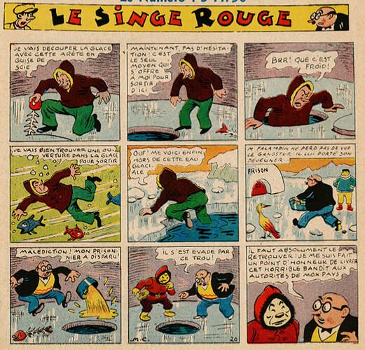 Pat épate 1949 - n°33 - Le Singe Rouge - 14 août 1949 - page 1