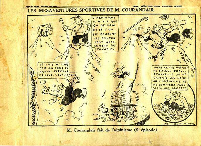 Les mésaventures sportives de M. COURANDAIR (9e épisode)
