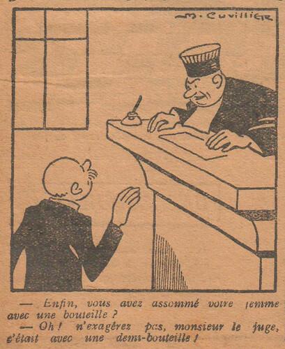 Le Pêle-Mêle 1927 - n°157 - page 10 - Enfin vous avez assommé votre femme avec une bouteille - 20 février 1927