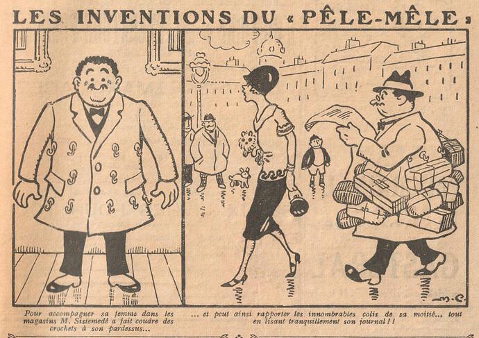 Le Pêle-Mêle 1927 - n°153 - page 19 - Les inventions du Pêle-Mêle - 23 janvier 1927